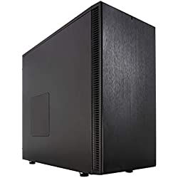Fractal Design Define S - Mid Tower Computer Case - ATX - Optimized For High Airflow/Performance And Silent Computing - 2x Fractal Design Dynamic GP-14 140mm Silent Fans - Water-cooling ready - Black
