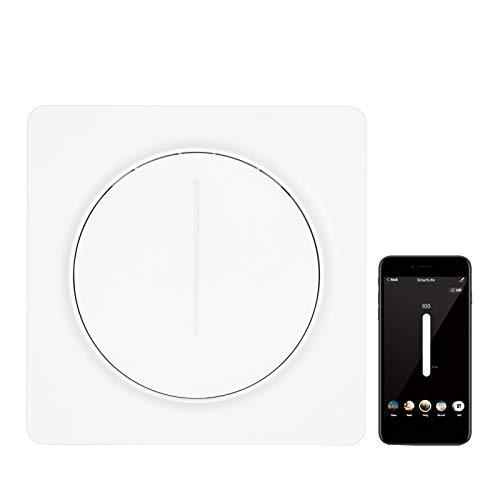 Interruptor de luz WiFi inteligente compatible con Alexa Google Home con control remoto Unipolar Se requiere cable neutro Tuya Interruptor de atenuación de control continuo estándar europeo con