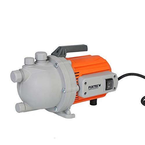FUXTEC Gartenpumpe FX-GP1800 Wasserpumpe für den Garten - Tauchpumpe 800 Watt, max. 3400 l/h, max. 38 m Förderhöhe, integrierter Schwimmerschalter – auch als Poolpumpe