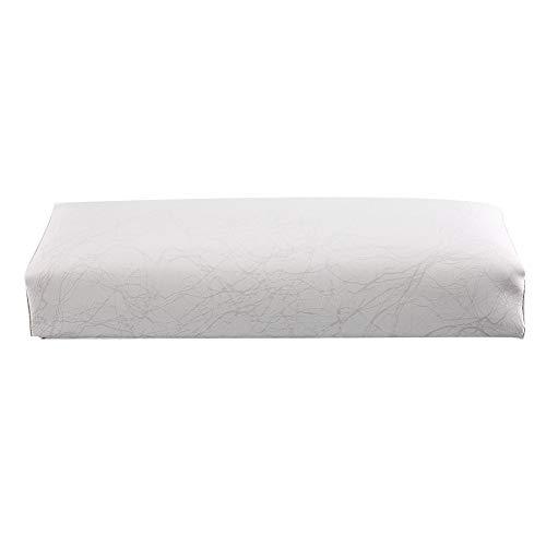 Cuscino Poggiamano Unghie - Poggiamano per Unghie Con texture vellutata per alleviare l'affaticamento delle mani (Bianca)