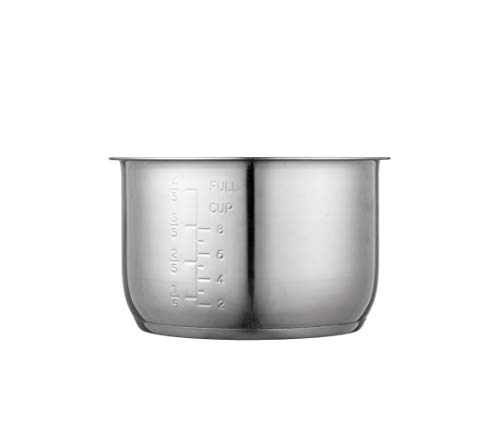 """""""GJS Gourmet Replacement Inner Pot Compatible with 4 Quart Cooks Essentials Electric Pressure Cooker (Stainless Steel, 4 Quart)"""". This pot is not created or sold by Cooks Essentials"""