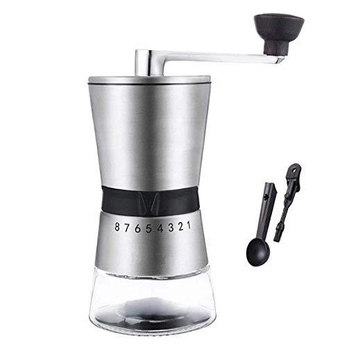 Molinillo de café manual, fresadora de cerámica con ajuste ajustable, molinillo de café de manivela portátil para viajar, reloj de arena, mejor para el espresso, prensa francesa, refresco frío y turco