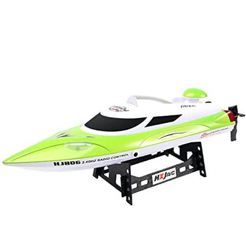 HONGXUNJIE Control RC Boot,Schnelle ferngesteuertes Boot für Pool und Seen,Hohe Geschwindigkeit 25/35 km/h/Abstand Indikator/Automatische Flip,Spielzeug Geschenk für Jungen Mädchen (806B-Green)