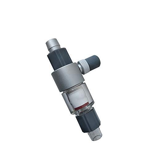 QANVEE 16/22 mm 12/16 mm externer CO2-Blasen-Zerstäuber für Aquarien, Diffusor, externer Reaktor für Süßwasser-Aquarien, Aquarien, Pflanzen (16/22 mm)