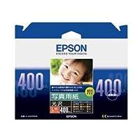 (まとめ) エプソン EPSON 写真用紙<光沢> L判 KL400PSKR 1箱(400枚) 【×2セット】