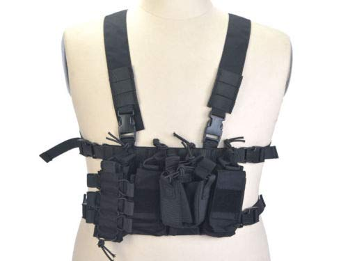 DLP Tactical D3 Universal Chest Rig with 223/308 Pouches (Black)