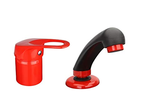 ATCO COIFFEUR - Grifo para lavabo, color rojo