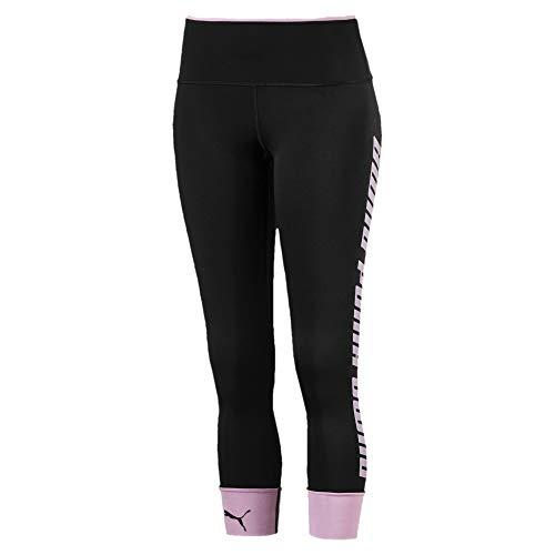 PUMA Modern Sports Fold Up Damen Leggings Puma Black-Pale Pink L