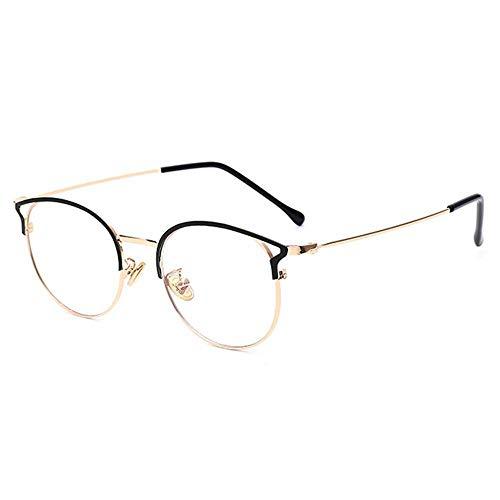 Sonnenbrille Cat Eye Blue Light Blocking Brillenfassungen Für Frauen Männer Optische Metallbrillen Computerbrillen Uv Protect-C1_Black_Gold
