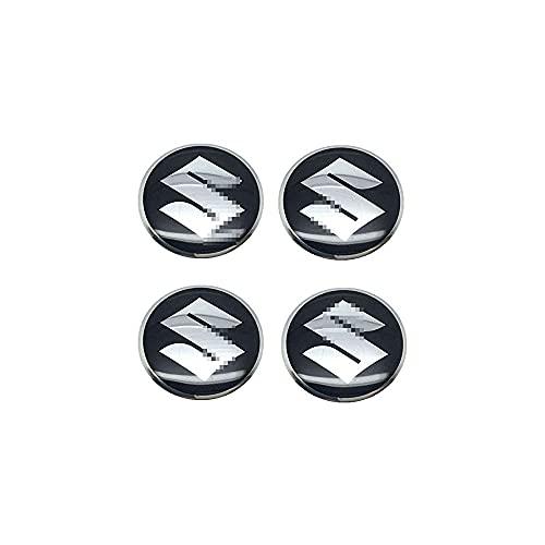 YQTYGB 4 Piezas Coche Tapas Centrales De Llantas Cubiertas, para Suzuki Vitara Swift SX4 Jimny Samurai XL Alto Liana Ignis La Cubierta Decorativa con Accesorios De Estilo del Logotipo