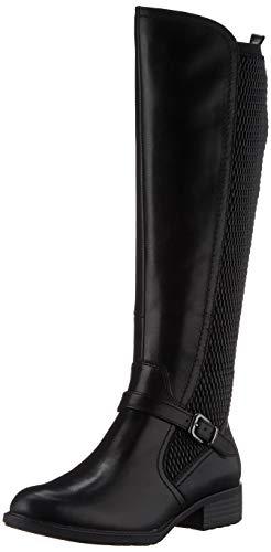 Tamaris Damen 1-1-25511-25 Kniehohe Stiefel, schwarz, 40 EU