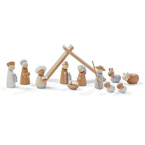 Haba Weihnachtskrippe | Spielkrippe | 12 teilig | aus Holz