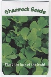 Set of 7 Mini Field of Shamrock Seed Packets