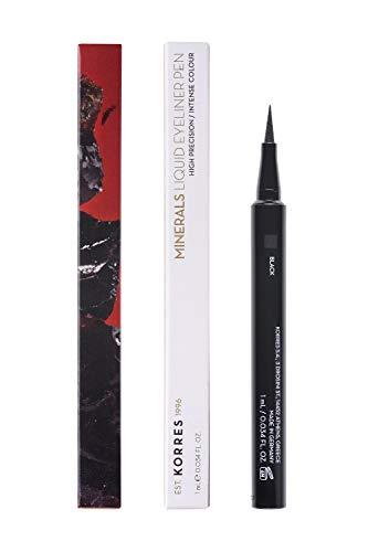 Korres MINERALS Flüssig-Eyeliner - 01 Black, 1er Pack (1 x 1 ml)