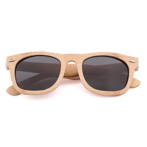 Gafas de sol de madera de bambú hechas a mano retro Ms. polarización Uv400 hombres polarización conducción gafas de sol