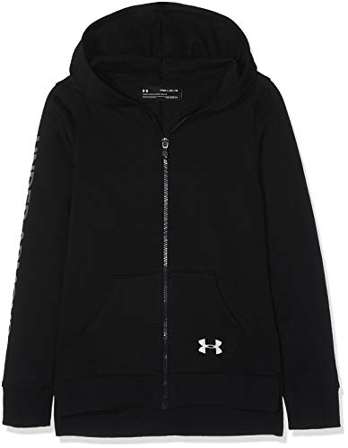 Under Armour Rival Full Zip Warm up Top BlackSilver Youth Medium