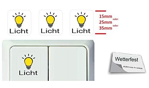Generisch 3 Stück Schalter Aufkleber Glocke Symbol Schalteraufkleber (RT25/10) (25 x 25 mm)