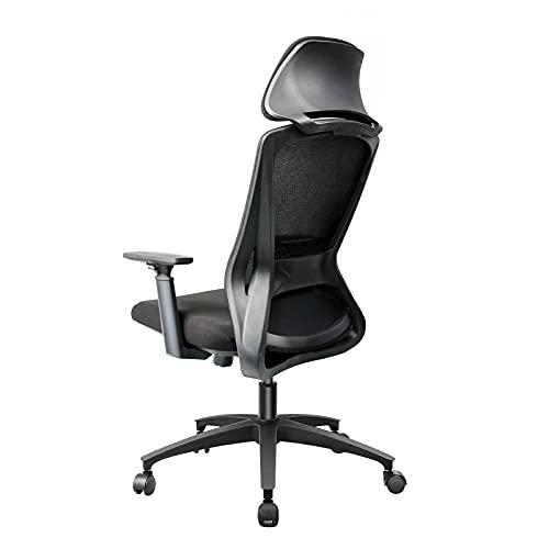 Ergonomisch Bürostuhl, Schreibtischstuhl mit Große Schwammkopfstütze, Computer Stuhl drehstuhl mit Verstellbare Armlehnen und Sitzhöh, Maximale Belastbarkeit 150 kg