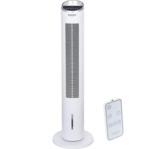 Gerlach GL 7927 3 in 1 - Colonna climatizzatore, 2 l, 320 W, multifunzione, 2 velocità, climatizzatore con controllo LCD touch, ventilatore a torre con 3 modalità di lavoro, bianco