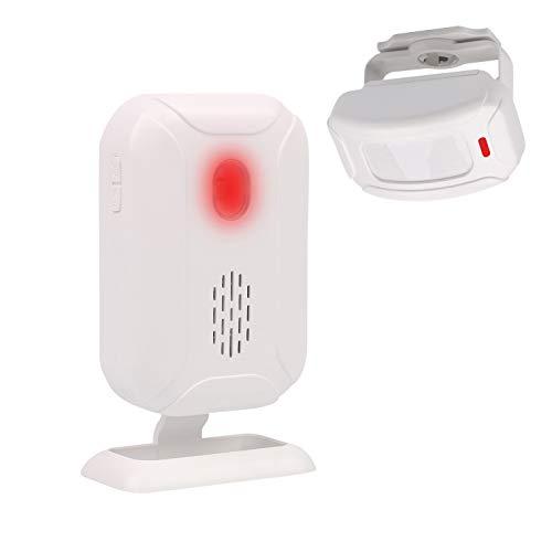 Mengshen Alarma del Sensor De Movimiento, Timbre Inalámbrico para Puerta/Entrada de La Puerta/Casa y Tienda/Buzón, Kit de Sistema de Alarma de Seguridad con 1 Sensor Y 1 Receptor - YBQ04