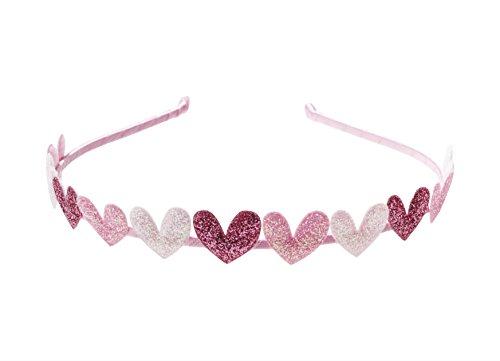 Anna Belen Girls'Eden' Glitter Hearts Headband O/S Pink