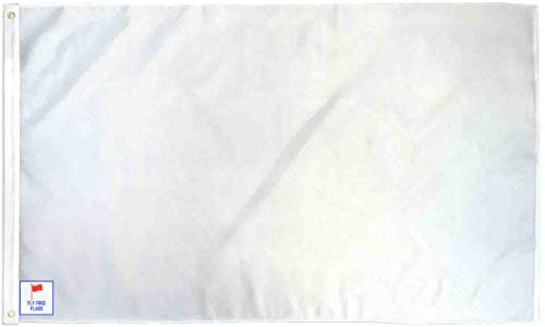 The Flag Joint - White 3x5ft Fly Free Flag - Poly