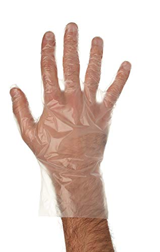 Disposable Food Preparation Poly Gloves 500 Count - One Size Fits All BPA FREE - Food Grade PE Disposable Gloves Latex & Powder Free (500/per box)