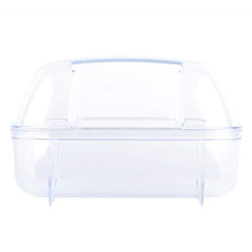 Piscina Portátil Portátil Cuarto de baño de hámster totalmente transparente, baño de flip-top y inodoro con puerta, adecuado for la eliminación de polvo de Gerbil Chinchilla de Hamster Adecuado para j