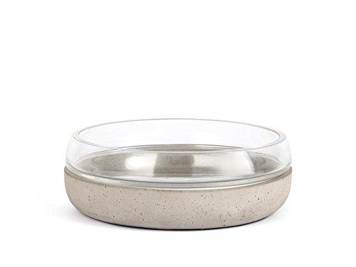 Zilverstad schaal Solido, beton, grijs, 21,5 x 21,5 x 7,4 cm