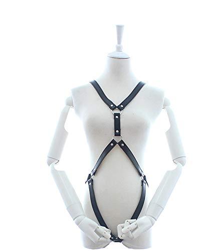 YOPDNE Handgemachter Leder Bondage Anzug zum Tragen