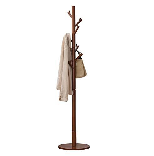 Cintres porte-manteaux Porte-manteau porte-manteau en bois de haute qualité, porte-manteau, porte-manteau, porte-manteau debout, porte-manteau, pour sac à main, vêtements -/ (Couleur : Brown)