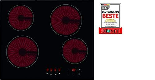 """Bomann EBK 962 autarkes Glaskeramik-Kochfeld/ 4 Kochzonen/ 9 Leistungsstufen/Elektronische Steuerung\""""Touch Control\""""/ Timerfunktion"""