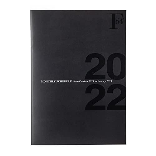 キョクトウ 手帳 2022年 FOBCOOP 2021年10月始まり A5 マンスリー 黒 PBF48K22