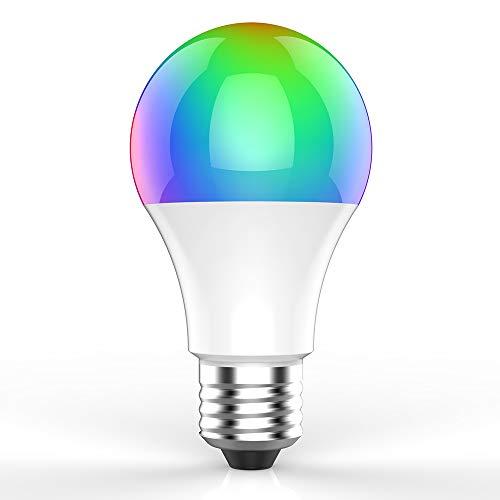 CPVAN Wifi Smart Light Bulb, LED Smart Bulb Kompatibel mit Alexa, Google Home & IFTTT, Smart RGB Farbwechsel Bulb mit Zeitplan Timer Funktion, Passed CE, FCC, ROHS Zertifizierung