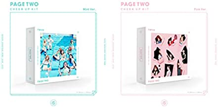 Twice - Page Two [Pink+Mint ver. Set] (2nd Mini Album) 2 Album+Double-Side Extra Photocards Set