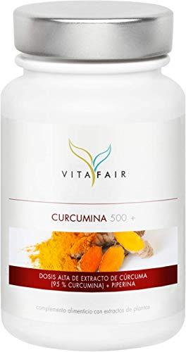 Cúrcuma - 1000mg por Porción - 90 cápsulas - 95% de Curcumina = 950mg - + Piperina - Vegano - Máxima Biodisponibilidad - Hecho en Alemania