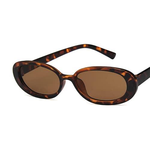 Kkghta Caja de Productos lácteos Las Gafas de Sol de la Moda de Las Habilidades de Colores manchados elípticos de Las Gafas de Sol