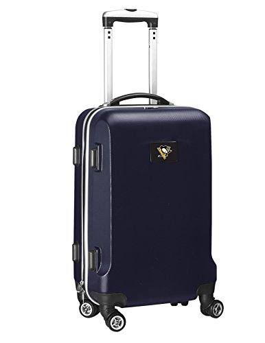 Denco NHL Pittsburgh Penguins Carry-On Hardcase Luggage Spinner, Navy