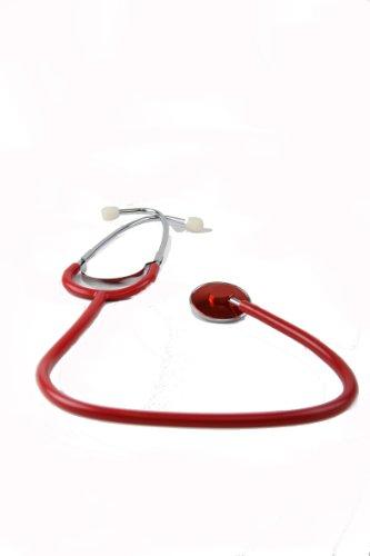 Schwestern-Stethoskop - mit rotem Schlauch - 1 Stück