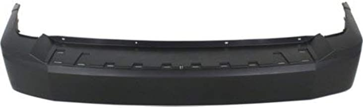 Rear Bumper Cover Compatible with 2008-2012 Jeep Liberty Primed Park Assist Sensor Holes Tow Hook Holes - CAPA