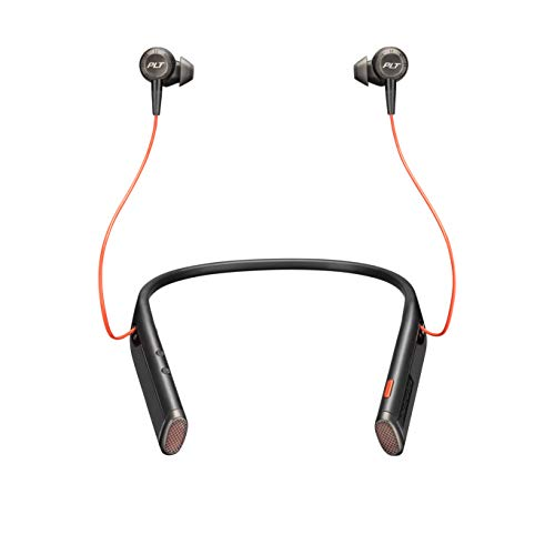 Plantronics - Voyager 6200 UC (Poly) - Bluetooth Dual-Ear (Stereo) Earbuds Neckband Headset - USB-A Compatible to connect to your PC and Mac - Works with Teams, Zoom & more - Active Noise Canceling