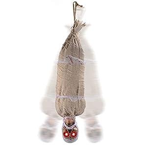 JOYIN Cadáver para Colgar Animado de Halloween de 89 cm con Ojos Iluminados por LED y Efecto de Sonido Decoraciones Interiores y Exteriores