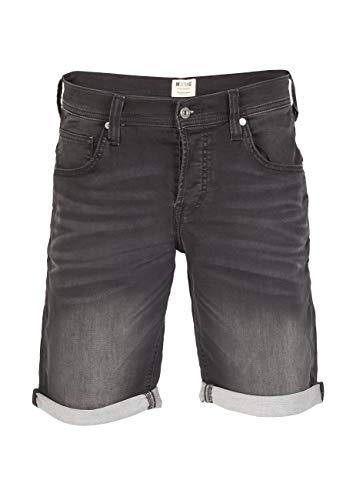 MUSTANG Herren Jeans Sweat Short Chicago Kurze Stretch Hose Real X Regular Fit - Blau - Grau, Größe:W 38, Farbe:Dark Grey Denim (881)