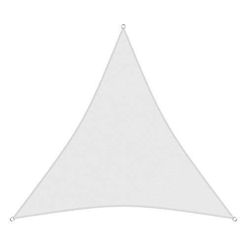 sunprotect 83234 Professional Sonnensegel, 5 x 5 x 5 m, Dreieck, Wind- & wasserdurchlässig, weiß