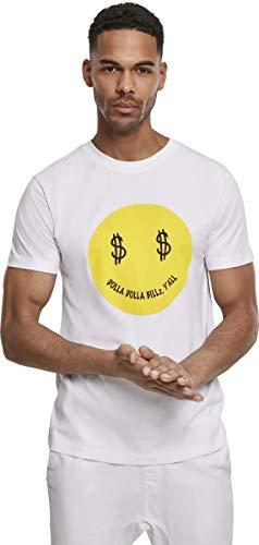 Mister Tee Herren Dolla Smile T-Shirt, White, 2XL