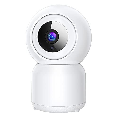 Cámaras de Vigilancia WiFi Interior 1080P, Camara Vigilancia WiFi Interior con Visión Nocturna,Rastreo de Movimiento,Detección de Movimiento/Personas,Audio de 2 Vías,Monitor para Bebé/Mascota/Tienda