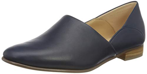 Clarks Damen Pure Tone Slipper, Blau (Navy Leather Navy Leather), 37 EU
