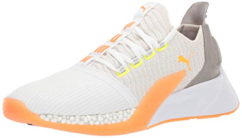 PUMA Xcelerator, Zapatillas Deportivas. Hombre, White Vaporous Gray Orange Pop Fizzy Yellow, 36 EU