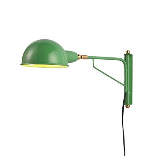 YLCJ Wandlamp industriële retro lange arm verstelbare metalen wandlamp leeslamp met stekker en aan/uit schakelaar kabel lijn voor huis bar restaurants café club decoratie