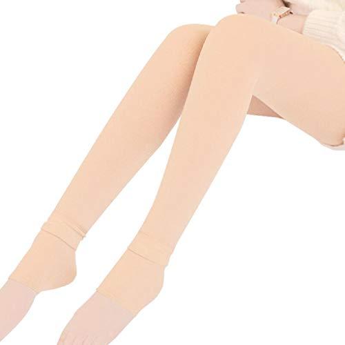 MAYOGO Damen Winter Solid Thermo Strumpfhose Warm Leggings mit Fleece Gefüttert,Ferse Drücken Shapewear Skinny Hose